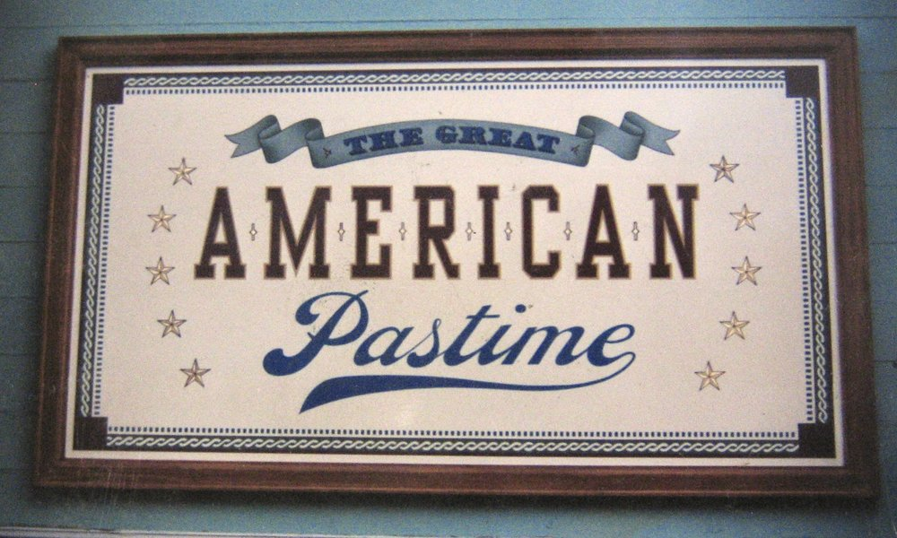 Hand painted Disneyland Main Street Great American Pastime sign