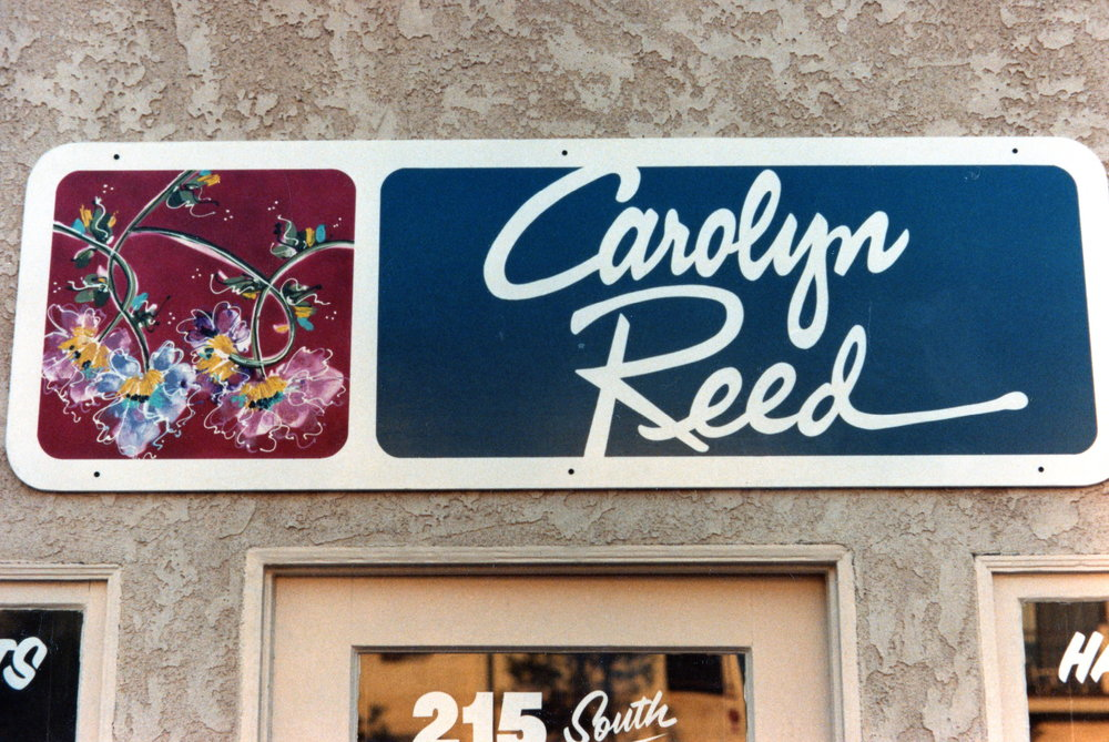 Carolyn Reed hand painted sign panel
