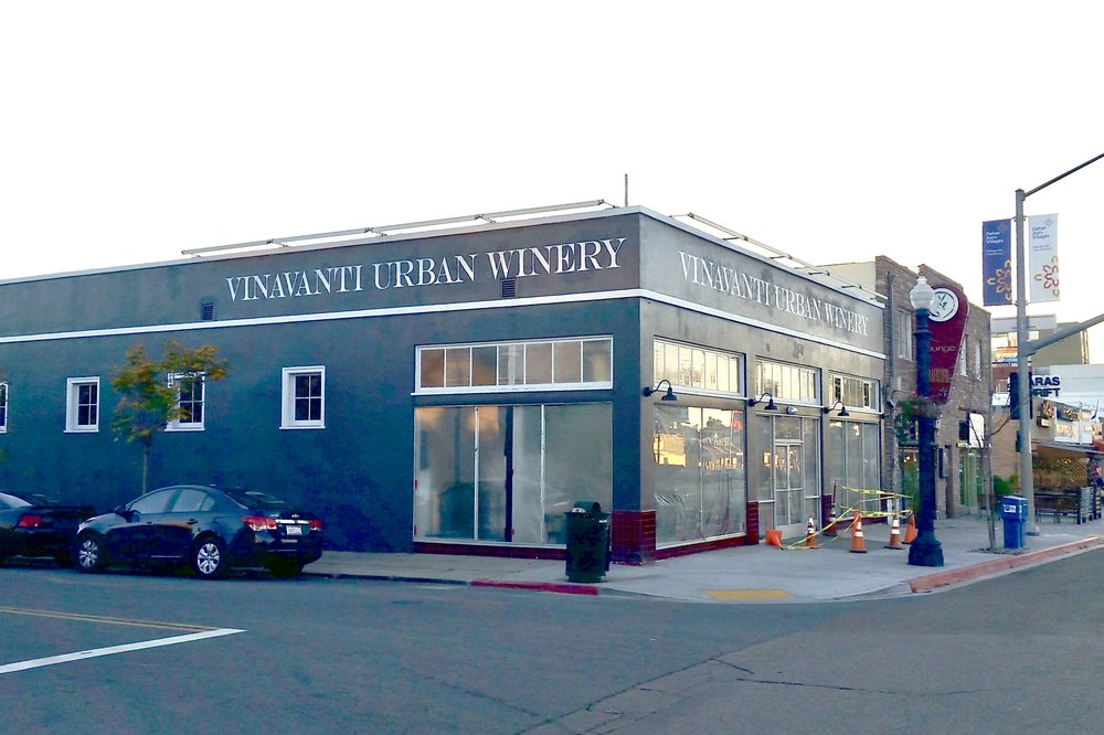 Vinavanti Urban Winery hand painted signs