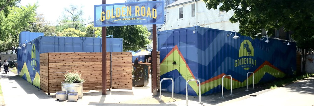 HAND PAINTED GOLDEN ROAD GRAPHICS & MURAL