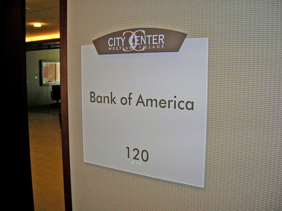 City Center office building suite ID sign