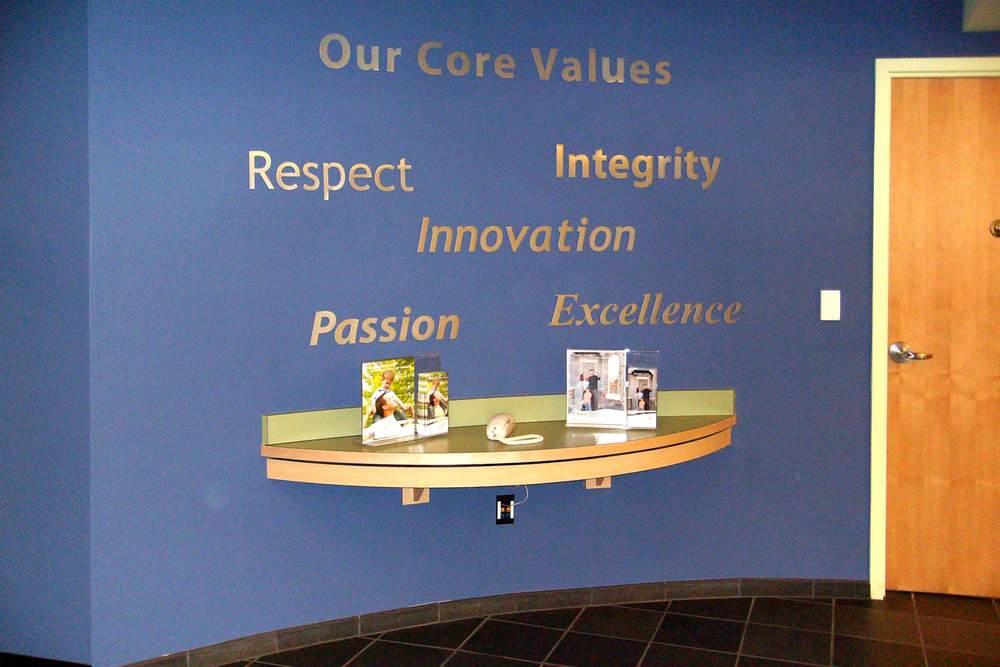 Altura Credit Union Riverside lobby dimensional letter display