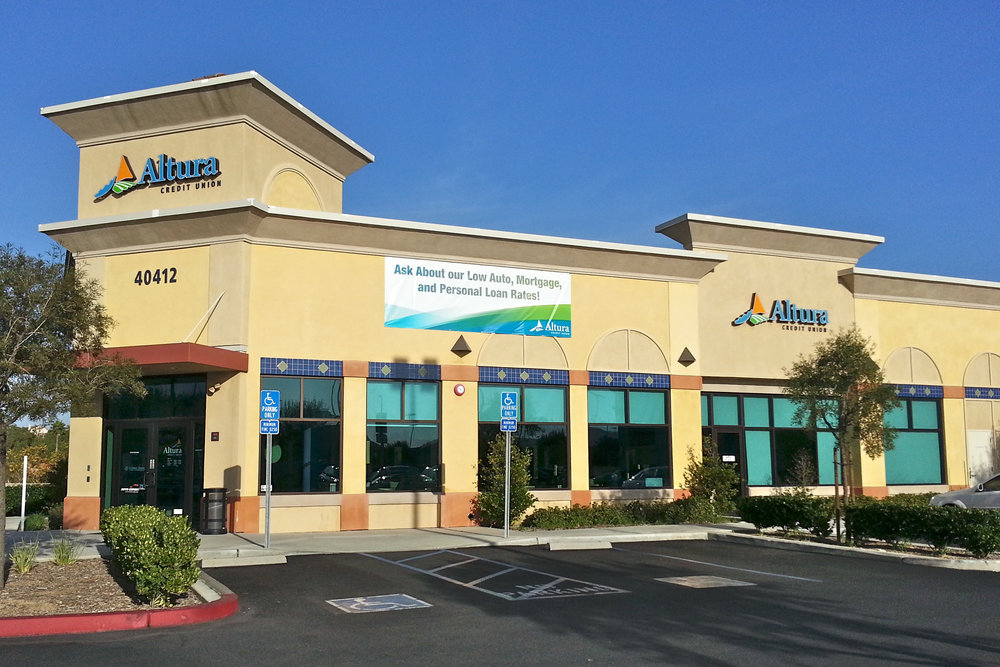 Altura Credit Union promotional wall banner
