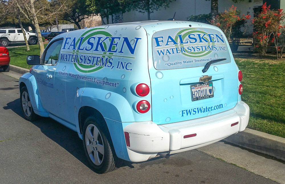 Custom digitally printed car wrap