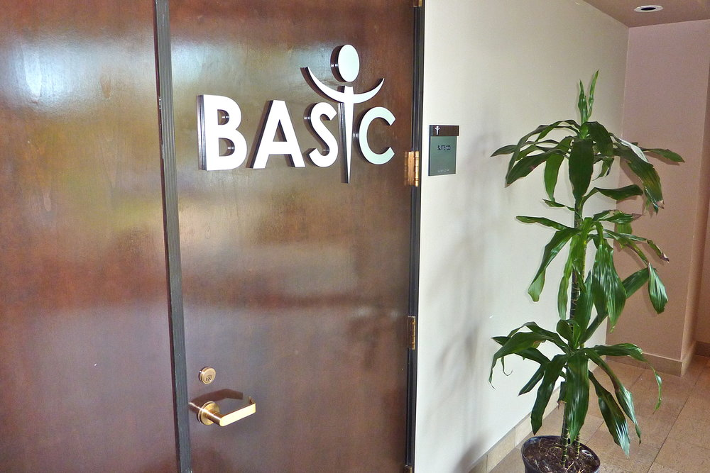 Brain and Spine Institute office entry dimensional letters and logo