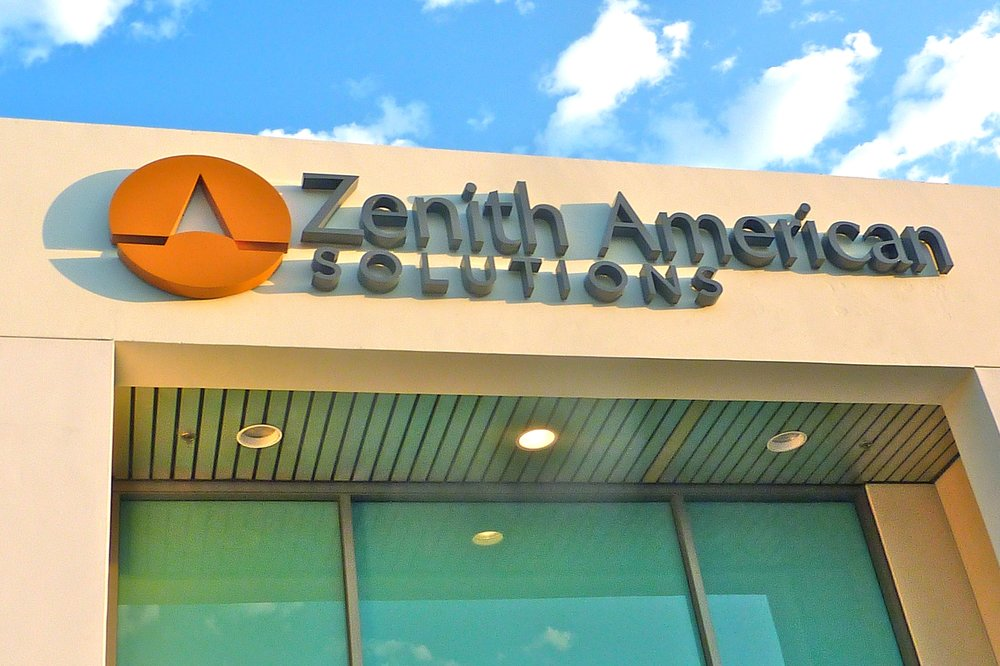 Zenith American Solutions dimensional channel letters and logo