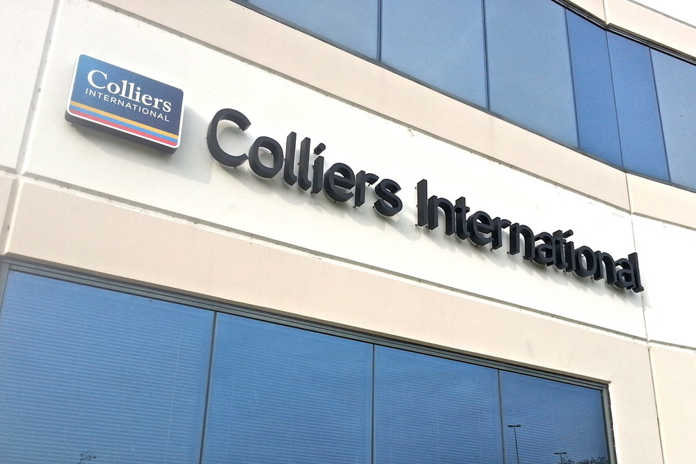 Colliers International dimensional letters and logo