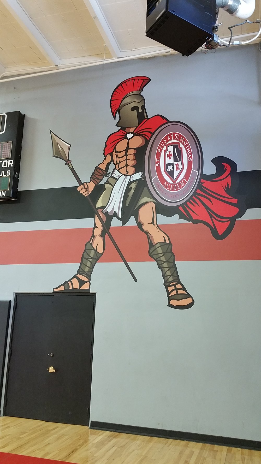 Custom gym wall wrap graphics