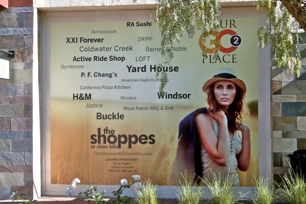 Custom printed mall wall wrap