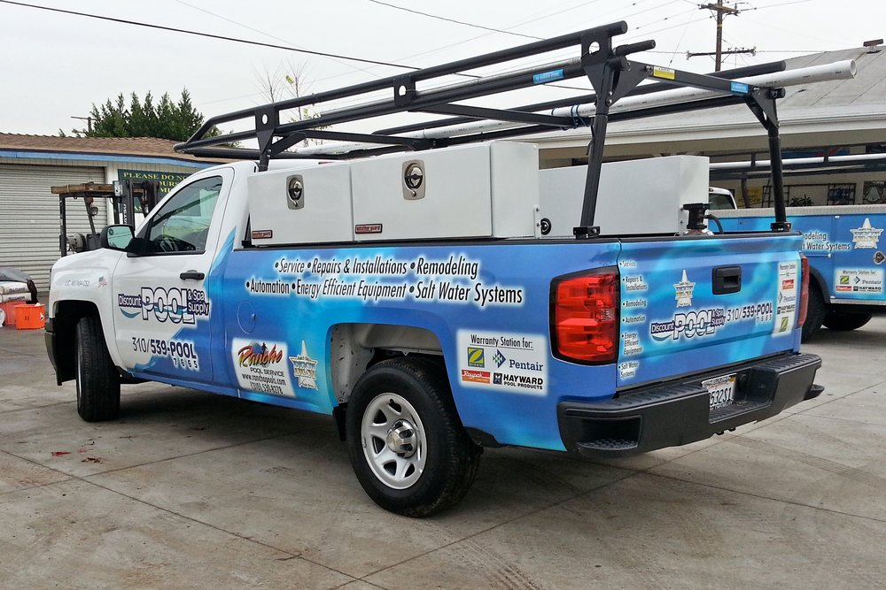 Custom digitally printed truck wrap