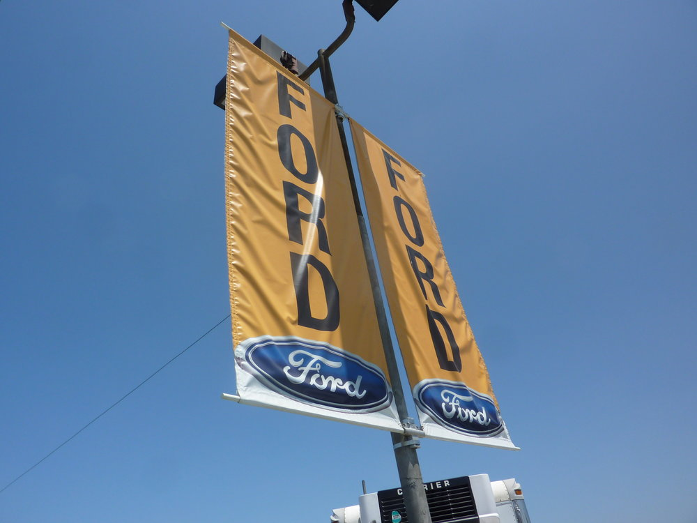 Ford pole display banners