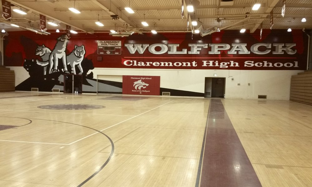 CLAREMONT GYM INTERIOR HAND PAINTED GRAPHICS