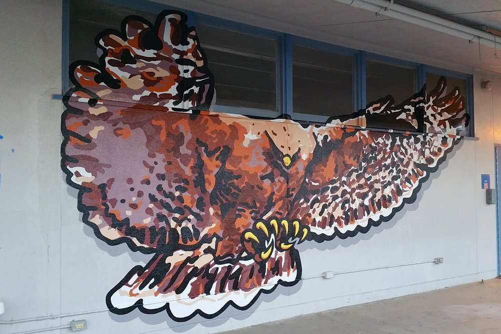 HUTCHINSON HAWK HAND PAINTED GRAPHIC