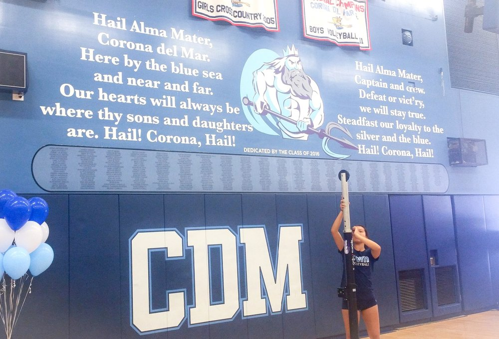 Corona del Mar High School gym mural