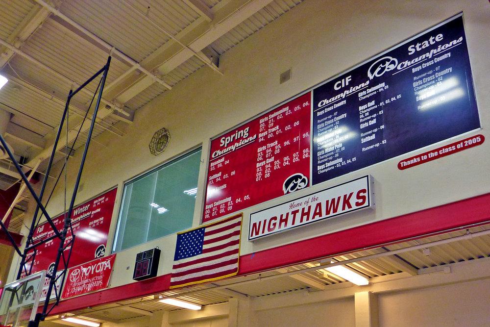 Murrieta Valley High School CIF gym window wrap