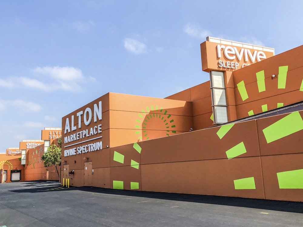 Alton Marketplace hand painted background graphics