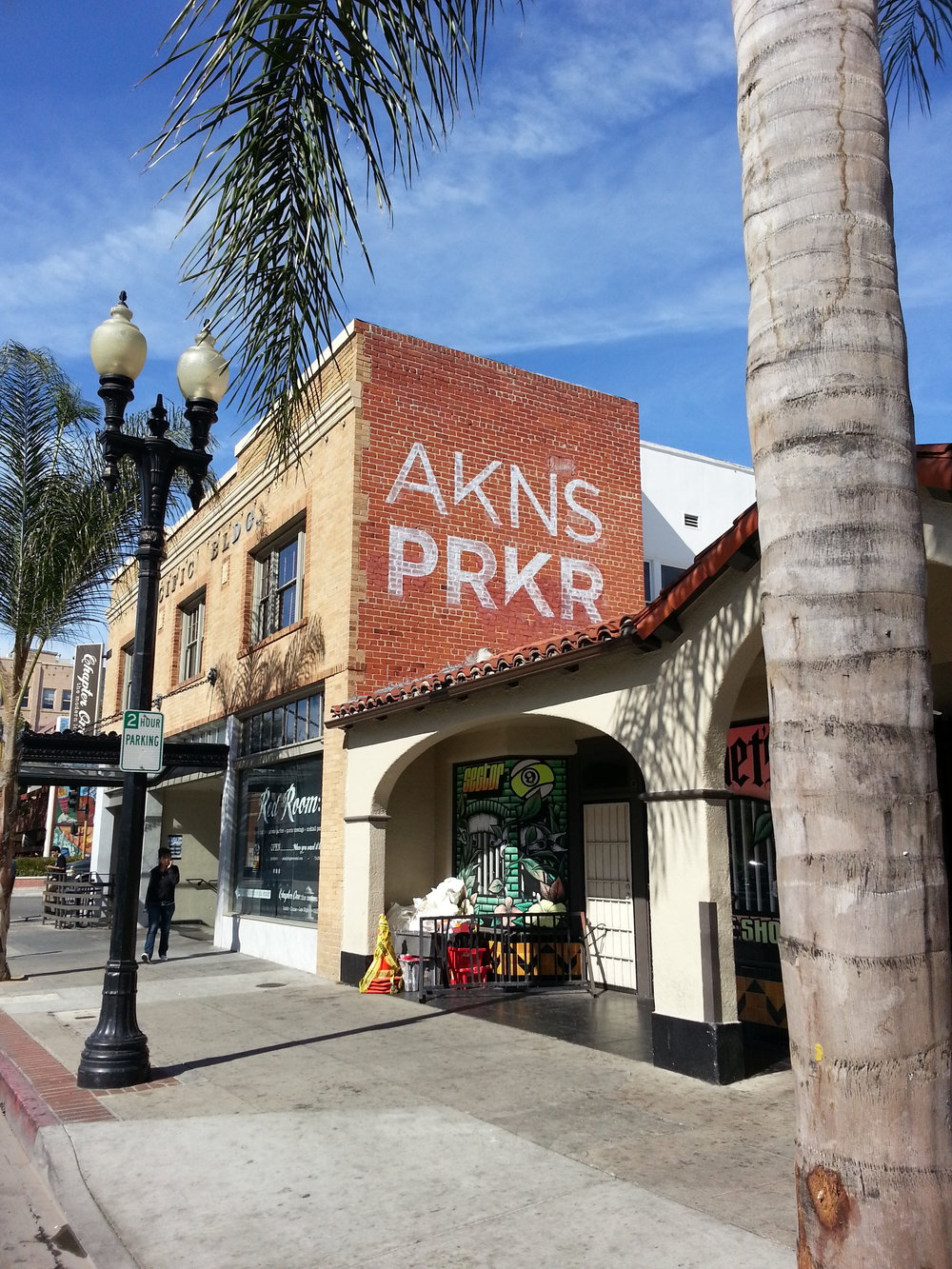 AKINS PARKER GHOST STYLE SIGN