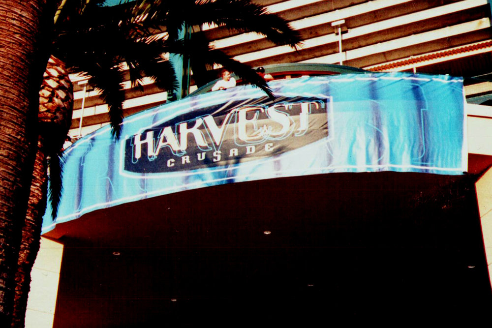 Harvest Crusade Banner, all hand painted - from 1998