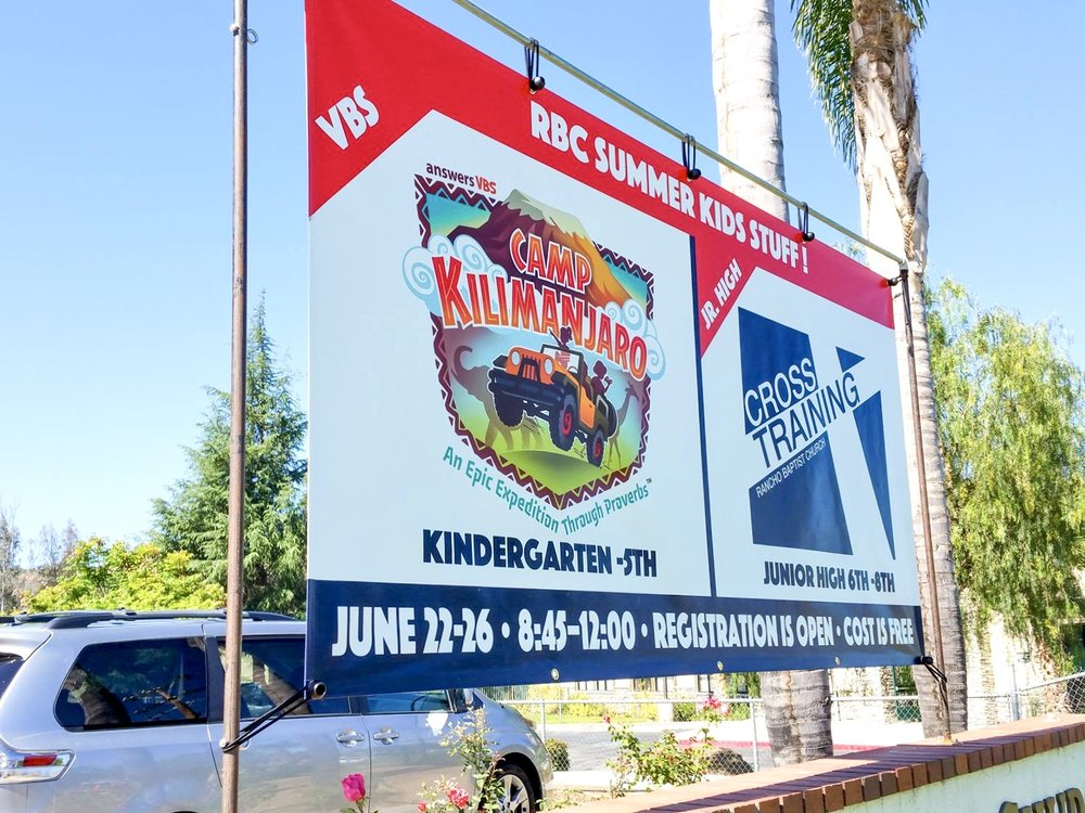 VBS TWO-SIDED BANNER