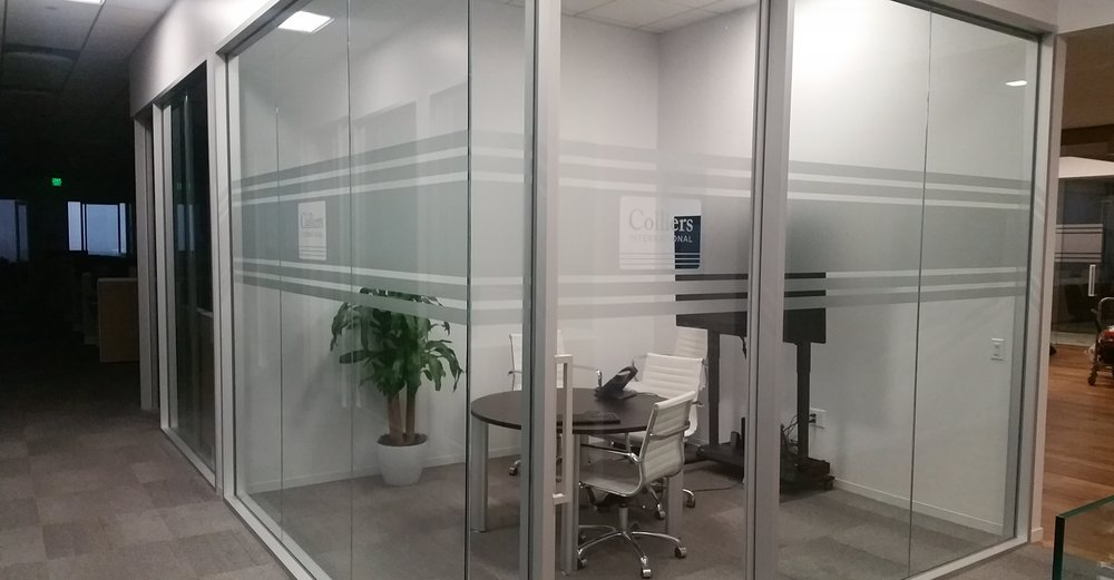 ETCH-LOOK VINYL PRIVACY AND SAFETY VINYL - COLLIERS CORPORATE OFFICE