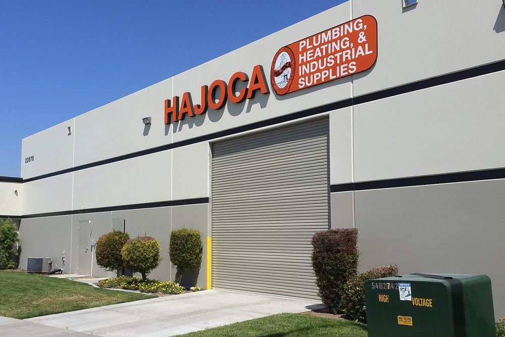Hajoca Plumbing Supply dimensional letter sign