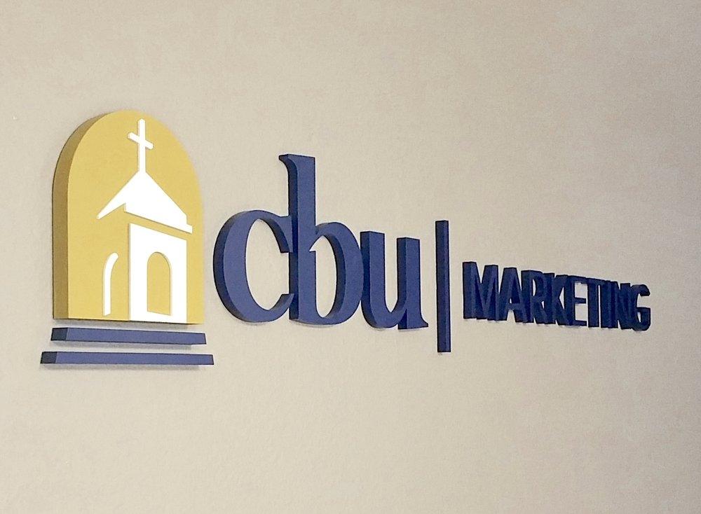 CBU MARKETING DIMENSIONAL LETTERS LOGO