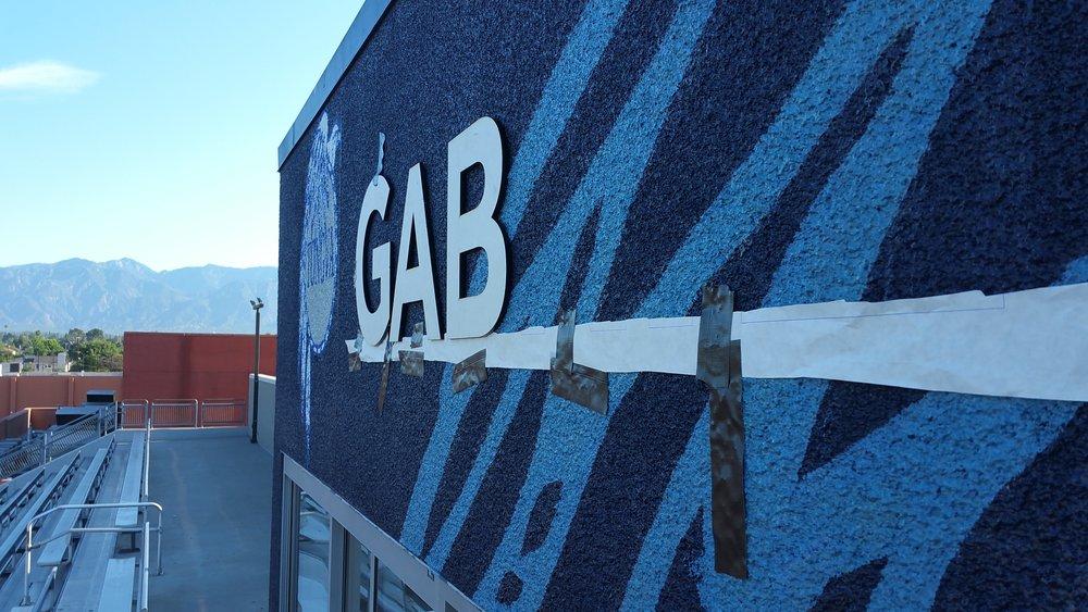 GABRIELINO STADIUM PRESS BOOTH GRAPHICS
