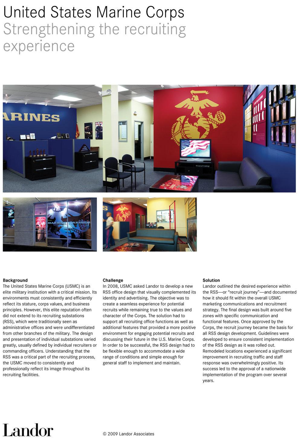 USMC RECRUITING CENTER BRANDING DESIGN ARTICLE