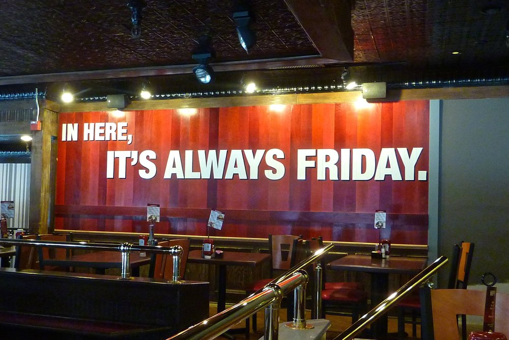 TGI Fridays West Covina CA hand painted promise wall graphics