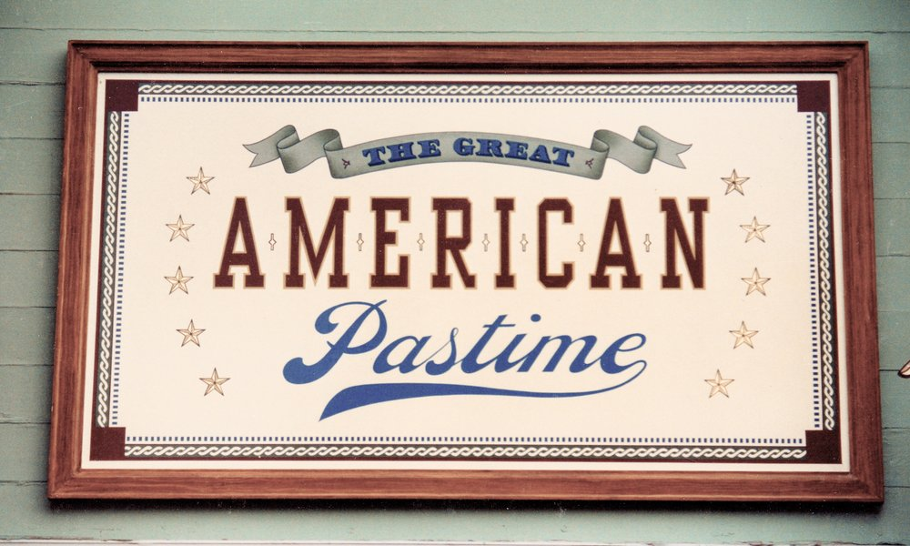 The Great American Pastime - hand painted Disneyland Main Street sign