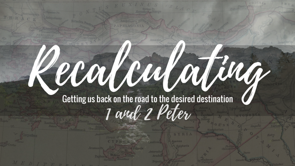 Recalculating - Sometimes we need to take a look at the direction of our life, the way we've chosen, the road we're on – and we need to recalculate. Is this getting me where I want to go?