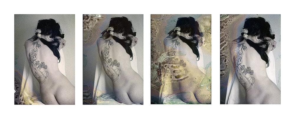 As Gueixas  Série de 4 trabalhos 50x35cm 1/3 Jato de tinta sobre papel de algodão.  Coleção Lica Cecatto.