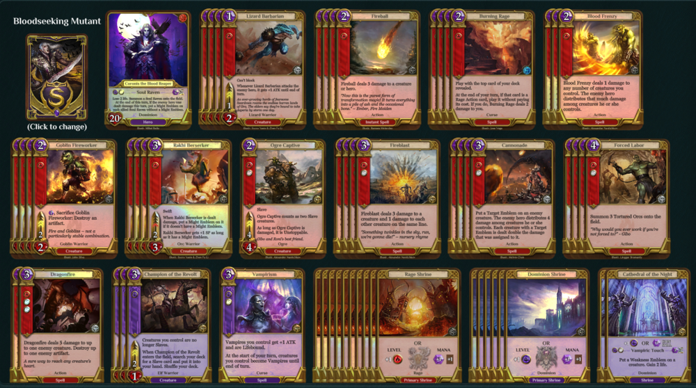 Spellweaver Deck Tech Burning Rage