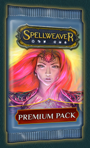 Premium Packs - Cost: 200 crystalsAs quest reward: NoNo. of cards: 10Pity timer: Yes (shared between normal, good, evil, premium packs; 1 premium pack counts as 2 normal/good/evil packs opened)Rarity distribution: 7 common, 2 uncommon, 1 rare (same as normal pack)Epic chance: 1 in 4 packs (at least 1 in 6)Heroic chance: 1 in 15 packs (at least 1 in 24)Foil chance: 1 in 2.5 packsNotes:- 1 in 8 premium packs also contains an additional rare or epic card.- Has double the chance to contain foils than a normal pack- NEVER contains cards you already own 4 copies of unless you already own 4 copies of every card in that rarity slot. Example: If you already own 4 copies of every uncommon, you'll still get 2 random uncommons from every pack.- Can contain multiple copies of the same card. This can happen due to the rule above. Example: You own 4 copies of every common card except for one, which you own 0 copies of. Your next premium pack is guaranteed to contain 4 copies of the common card you were missing, completing your collection of commons.
