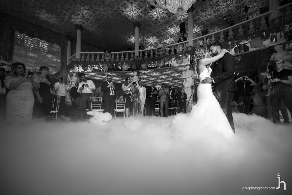 Heather & Basil's first Dance on cloud - Photo by Jonathan hare photography