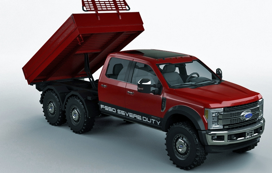 2017 f550 6x6 with bed