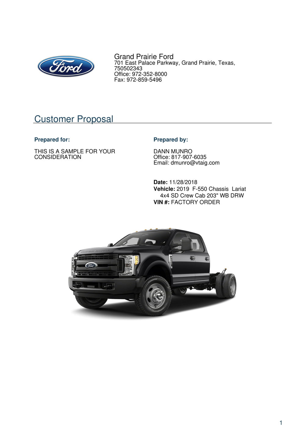 Copy of F550 Lariat F550 For Sale