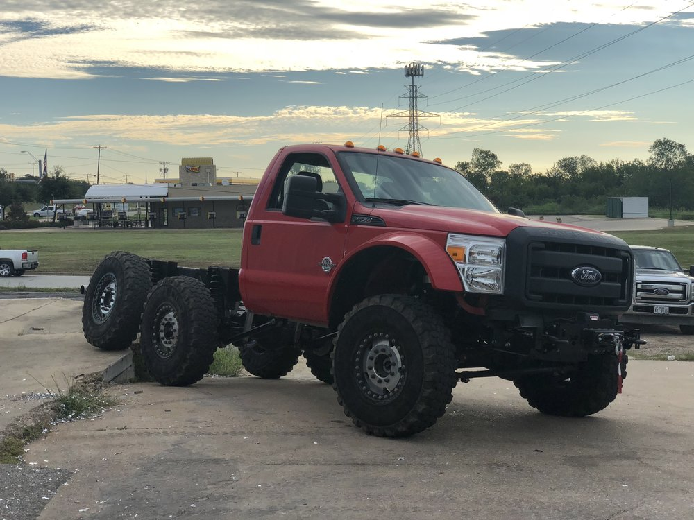 6x6 MRAP Style Wheels and Tires F550 F450 Conversion Ford Super Duty six wheel drive powerstroke 6.7l