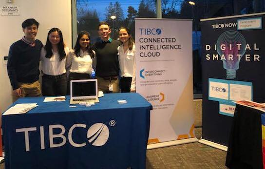 TIBCO interns manning their booth at the BEAM 5th Annual Summit Event in 2019.