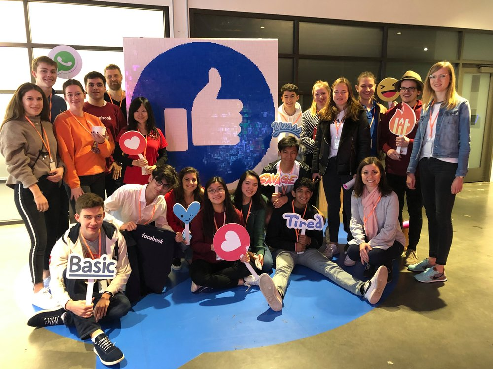 BEAM students at the Facebook offices.