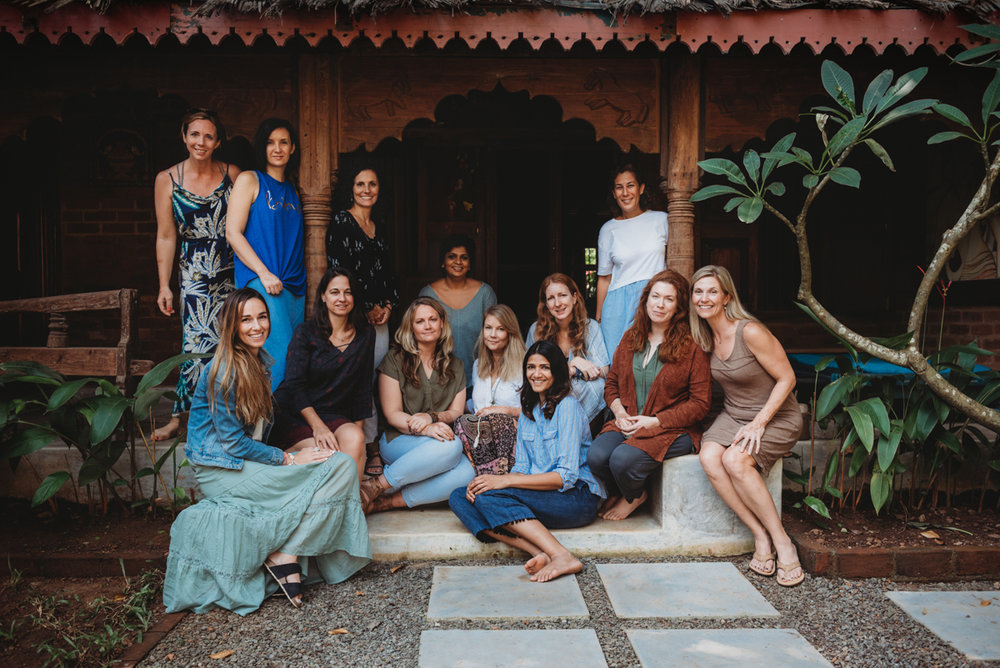Photo at our beautiful Goa retreat 2018 by Chloe Lodge