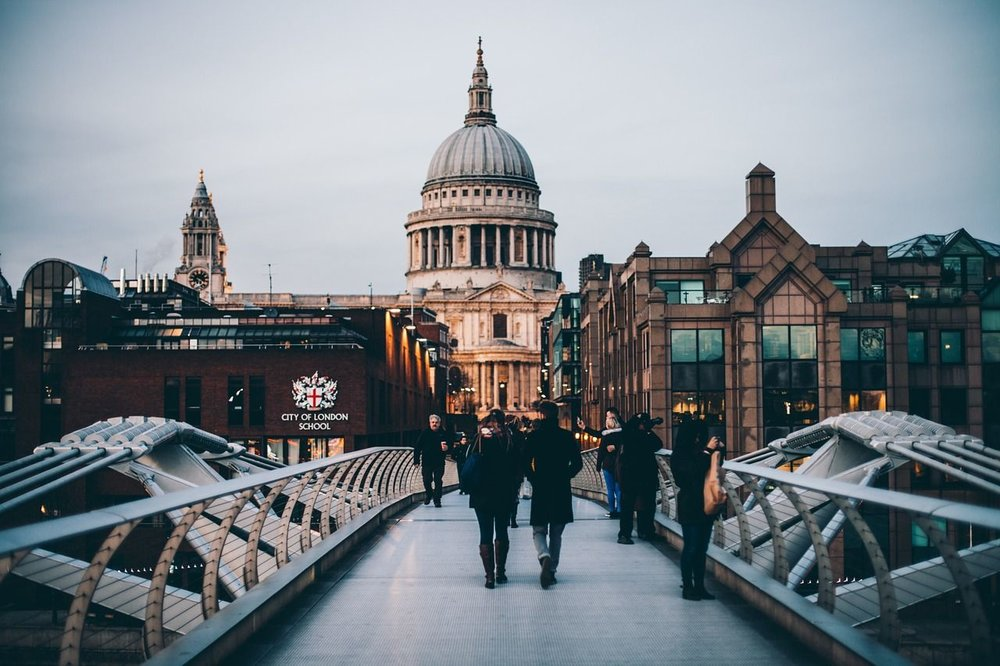 Eager for more - Millenium Bridge leading to St Paul, London