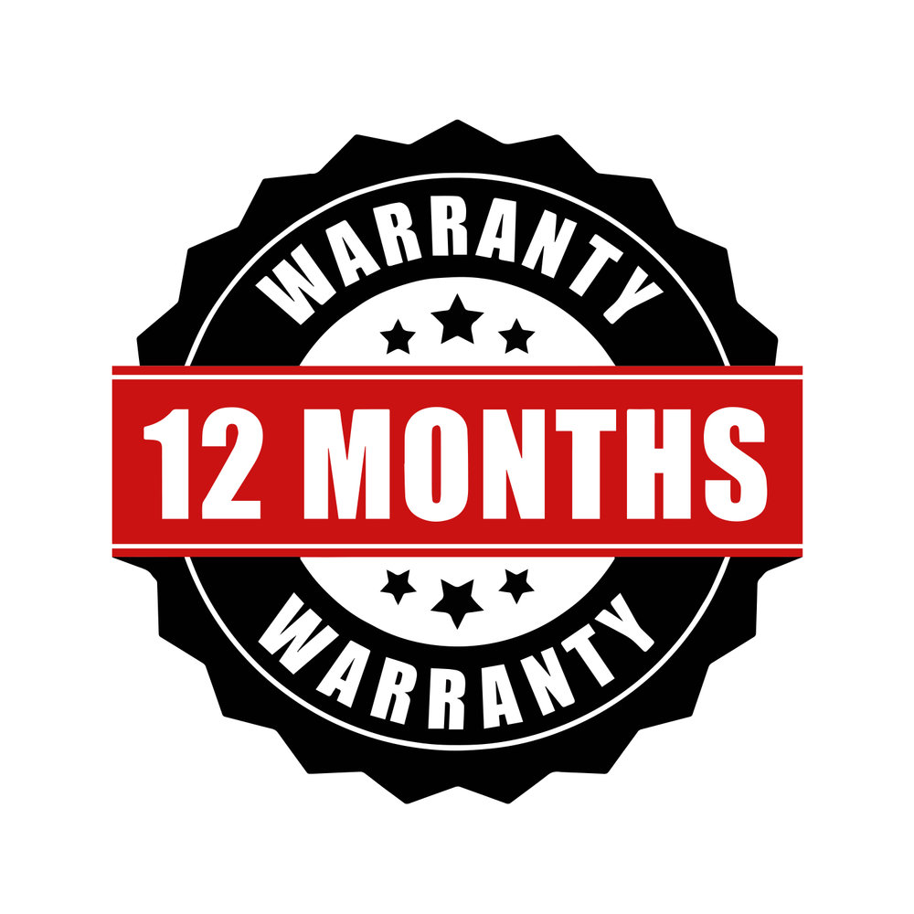 12 Month Warranty On All Products