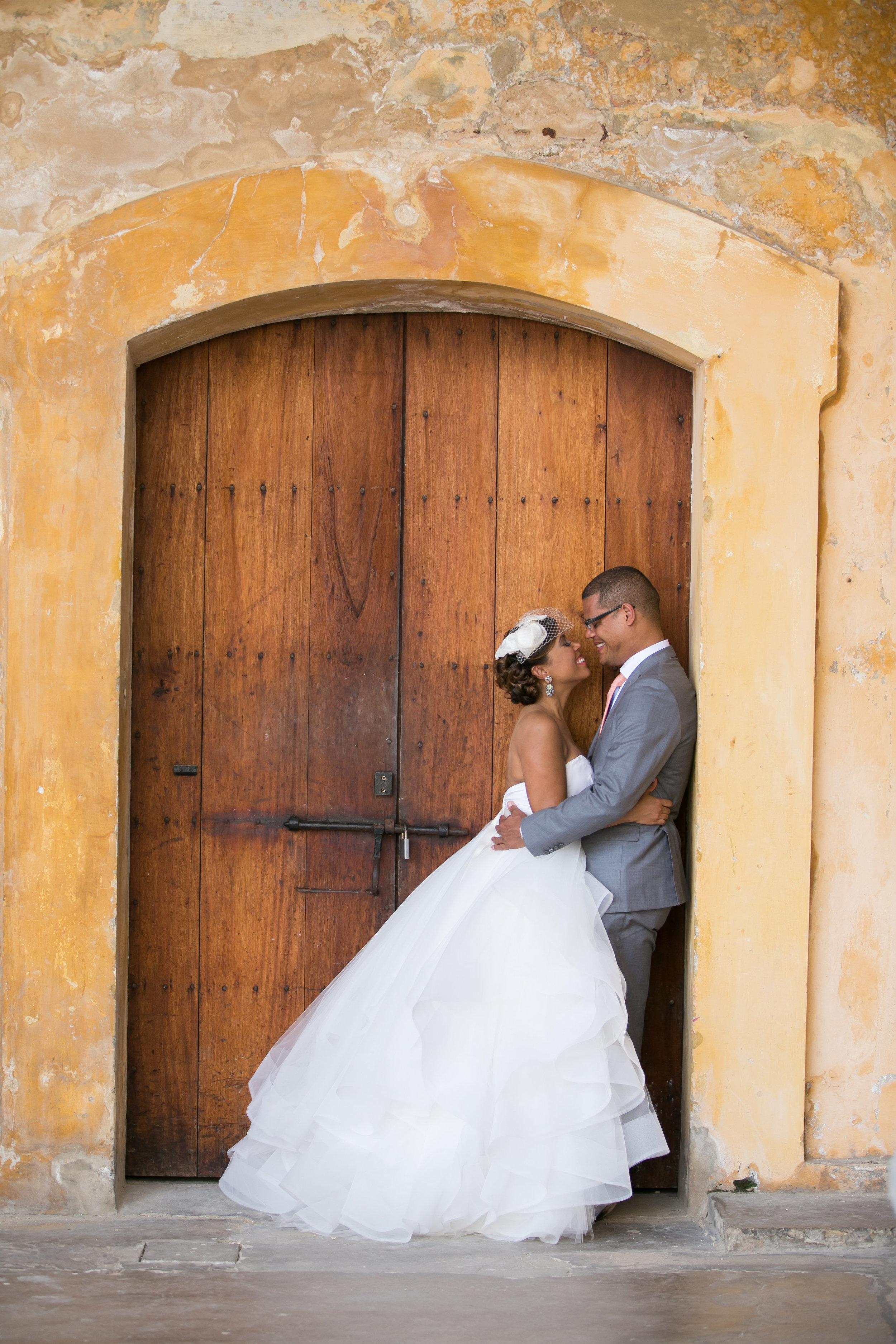 fallon carmichael santaigo wedding, san juan puerto rico wedding, old san juan wedding, casa de fallon wedding