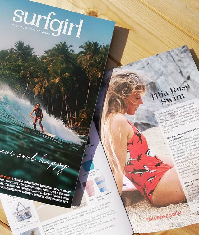 So excited to be in this year's @surfgirlmag swimwear guide! It's a beautiful issue full of body positivity and powerful women. The guide it's self has amazing options for swimwear from old brands to brand new ones!