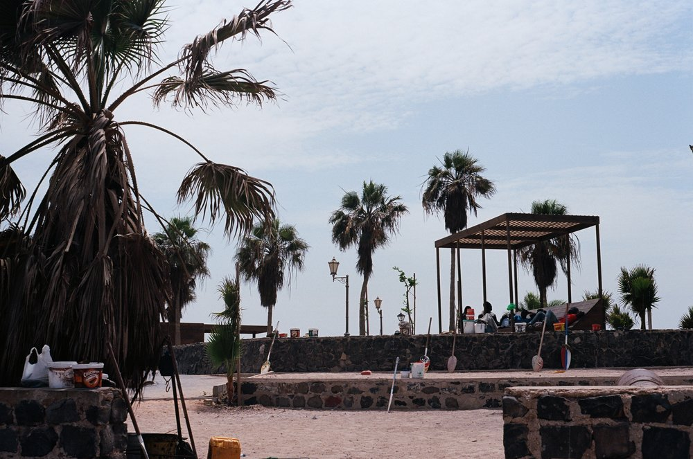 gorée island. as seen from the beach.