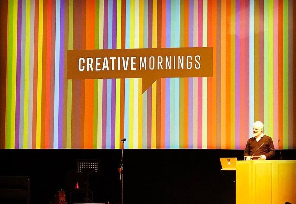 2. Geburtstag von CreativeMornings Düsseldorf. Nice stage!