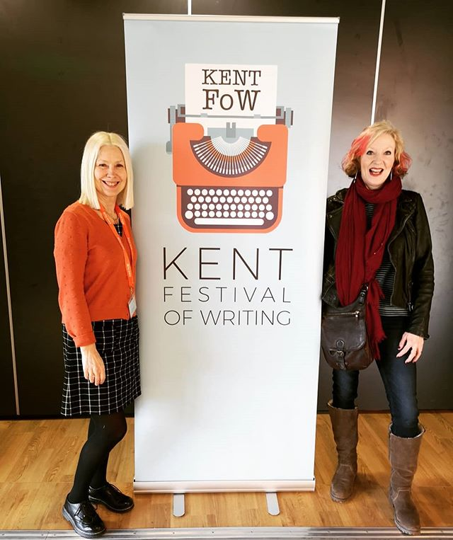 Lovely morning at Kent Festival Writing. Thanks so much Sue Bassett for inviting me. Had about 40 people at my workshop on the psychology of writing. Superb talk afterwards by @ansteyharris and her agent, Sarah Hornsley, hosted by Peggy Riley. Thanks to all involved, and everyone who attended.