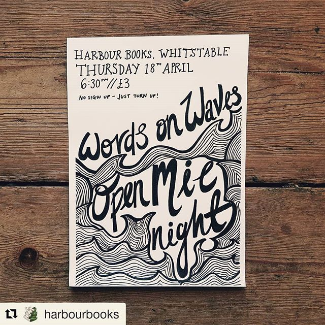 Repost from @harbourbooks ⬇️⬇️⬇️⬇️⬇️ ・・・ A first for our bookshop! This Thursday we're hosting an open mic night and we want you to come along! If you like Words on Waves but haven't had a chance to perform yet, this is your opportunity to do so! There's no sign-up required, and no need to book tickets in advance - all you need is your voice and your poems! One 10-20 line poem per person, with a chance to read another if there's extra time. All welcome, even if you don't want to read anything out! £3 on the door, and as always, we'll be serving prosecco too.  Kick off Easter weekend with this exciting event! (6:30pm start time!)