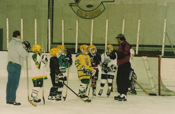 Copy of Frank coaching with 5 time Stanley Cup winner Charlie Huddy